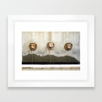 Three Lions Fountain Framed Art Print