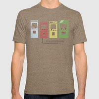 Arcade Machines Mens Fitted Tee Tri-Coffee SMALL