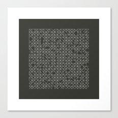 #58 Crossword  – Geometry Daily Canvas Print