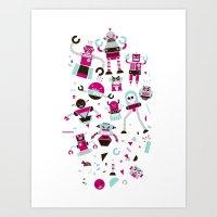 Robots! Destroy! Destroy… Art Print