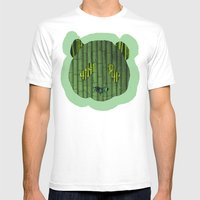Panda & Bamboo Mens Fitted Tee White SMALL