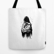 Time (Black and White) Tote Bag