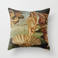 The Birth Of Venus By Sa… Throw Pillow