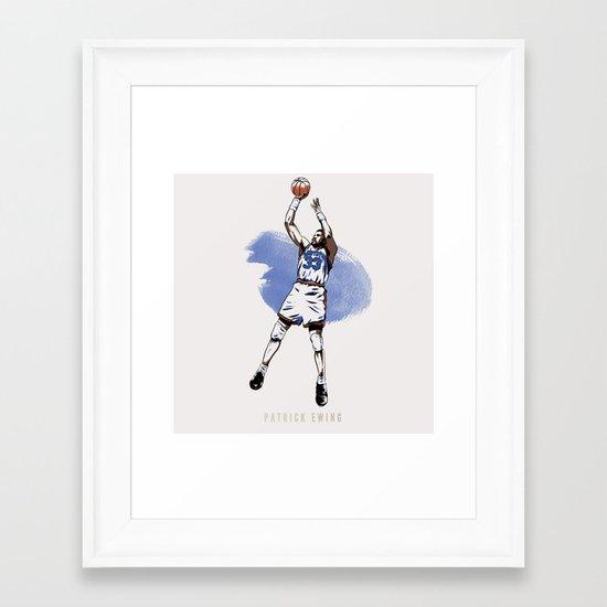 Patrick Ewing Framed Art Print