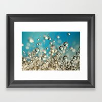 Crazy Cactus Droplets Framed Art Print