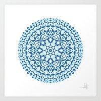 Khatem Rosette 001 | Lap… Art Print