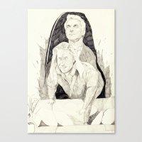 Killer twin peaks Canvas Print