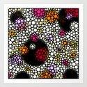 Space Bubbles Art Print