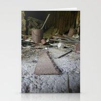 Saw Stationery Cards