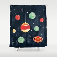 Joy To The Universe Shower Curtain