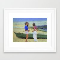 Beach Girls Framed Art Print