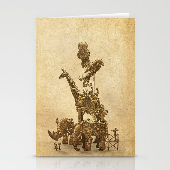 Mechanical Menagerie  Stationery Card