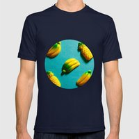 Ananas 'N Bananas Mens Fitted Tee Navy SMALL