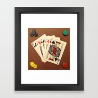 Poker de Jotas Framed Art Print