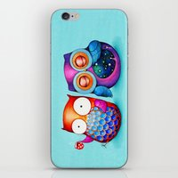 Night and Day Owls iPhone & iPod Skin