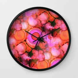 Wall Clock - Palm Trees on Sunset Stains - Kirsten Star