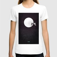 movie poster T-shirts featuring Moon alternative movie poster by LionDsgn