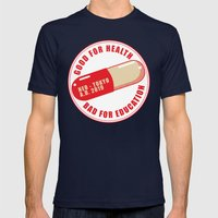 Good Medecine Mens Fitted Tee Navy SMALL