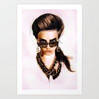 Fashion Illustration - Glasses Art Print