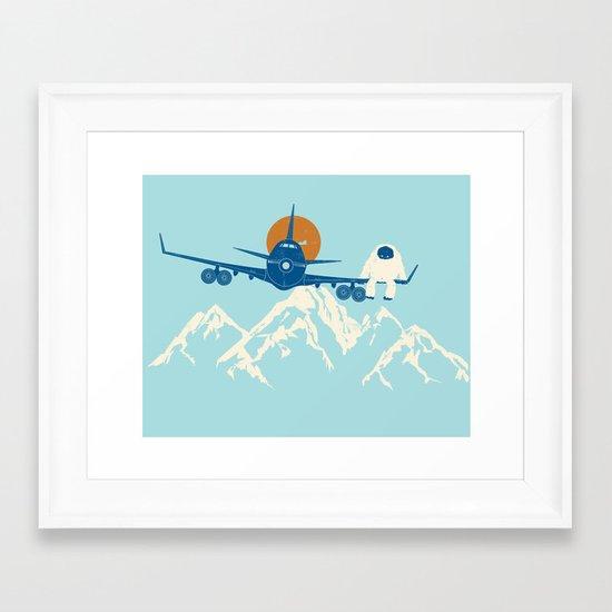 Hitchin' a Ride Framed Art Print