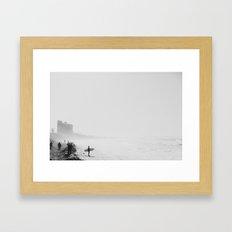 San Diego Surf Beach Framed Art Print
