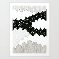 Cloudy Night Art Print