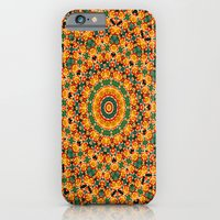Yellow and Red Dahlia Kaleidoscope iPhone 6 Slim Case