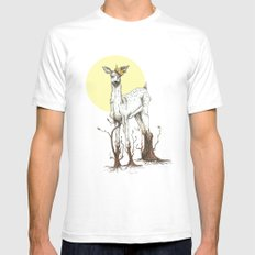 Doe Tree Mens Fitted Tee SMALL White