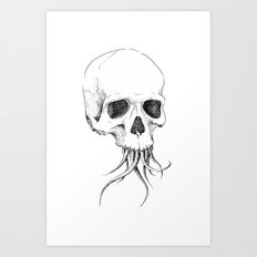 Skull With Tentacles Art Print
