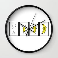 Banana Metamorphosis Wall Clock