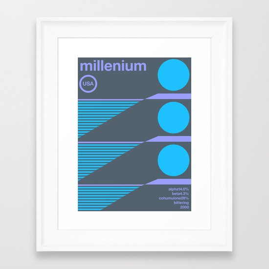 millenium single hop Framed Art Print