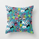 Doodled Pattern Throw Pillow