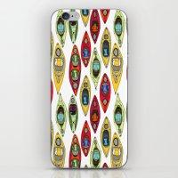 I Heart Kayaks Pattern iPhone & iPod Skin