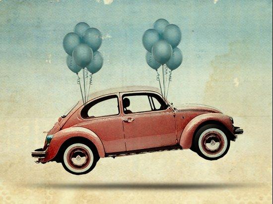 take flight, VW Beetle Canvas Print