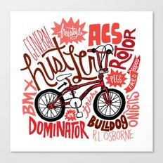 All My Bikes: 2, General Hustler Canvas Print