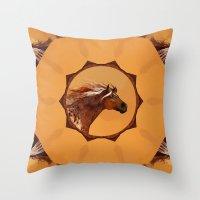 HORSE - An Appaloosa Cal… Throw Pillow