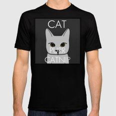 Cat Purr Catnip Mens Fitted Tee SMALL Black