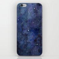 Night Sky Stars Galaxy | Watercolor iPhone & iPod Skin