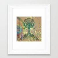 Color My World Green Framed Art Print