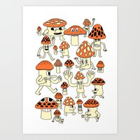 Fun Guys Art Print