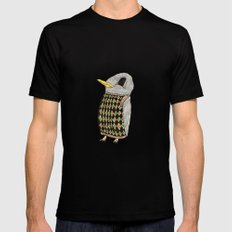 Baby Raven In Argyle Black SMALL Mens Fitted Tee