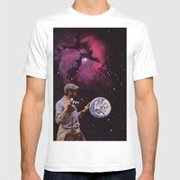 World In Your Hands Mens Fitted Tee White SMALL
