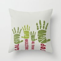Deforestation has to stop Throw Pillow
