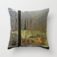 Droplet Landscape III Throw Pillow