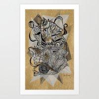 Life of Lines Art Print