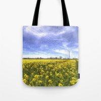 English Summer Farm Art Tote Bag