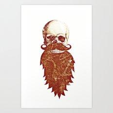 Beard Skull 2 Art Print