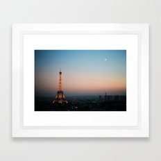Paris Soft Sunset Framed Art Print