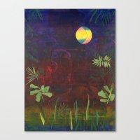 Moon Garden Canvas Print