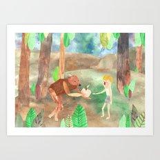 how I met my brother (part 2) Art Print